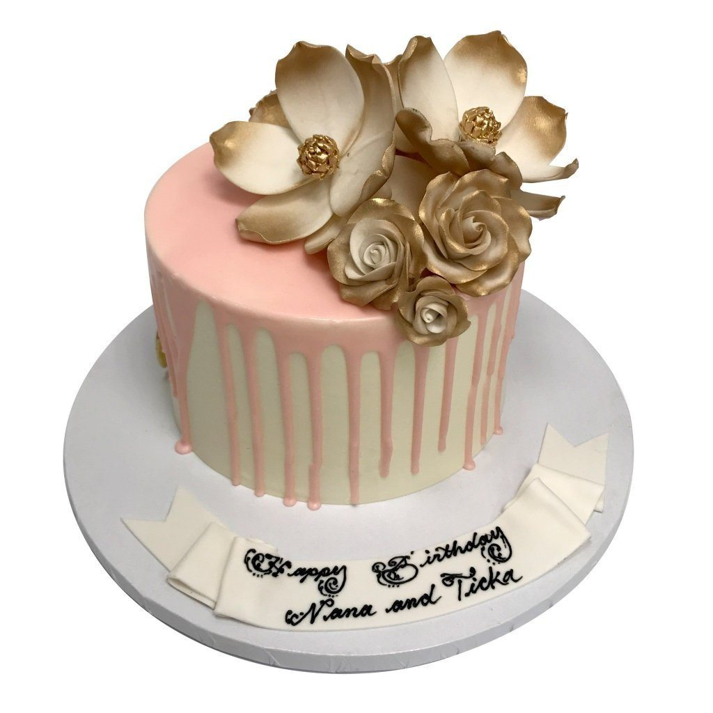 Blushing Gold Theme Cake Freed's Bakery