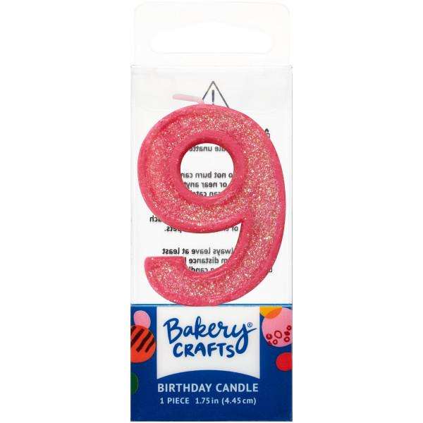 Mini Number Candle Candle Freed's Bakery Number Nine Candle Pink