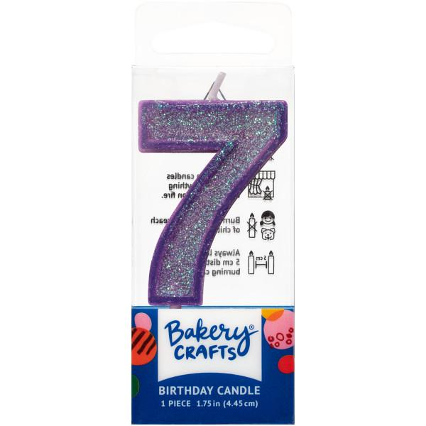 Mini Number Candle Candle Freed's Bakery Number Seven Candle Purple