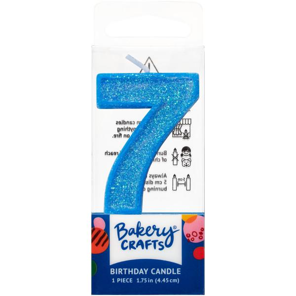 Mini Number Candle Candle Freed's Bakery Number Seven Candle Blue