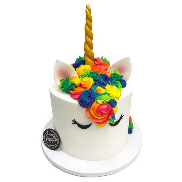 Surprising Unicorn Spirit Animal Birthday Cake Freeds Bakery Personalised Birthday Cards Rectzonderlifede