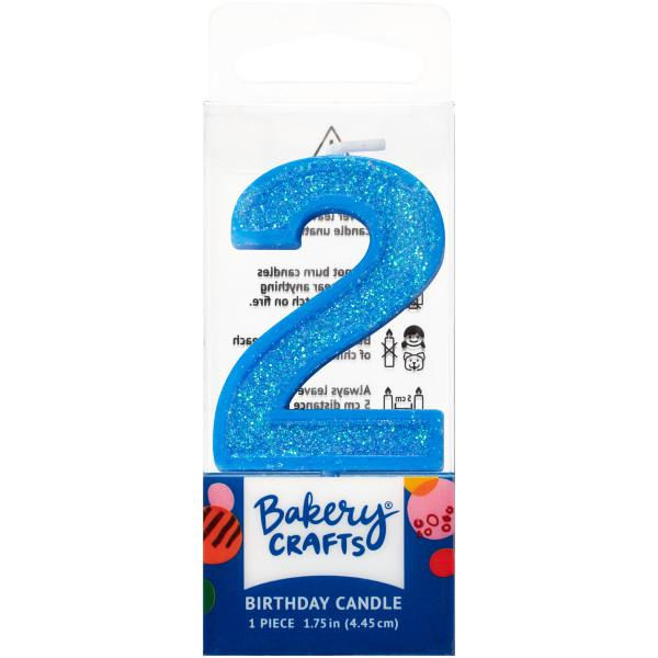 Mini Number Candle Candle Freed's Bakery Number Two Candle Blue
