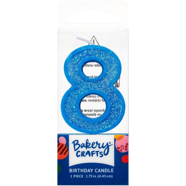 Mini Number Candle Candle Freed's Bakery Number Eight Candle Blue
