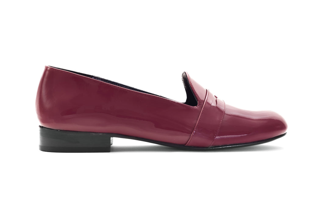 CHIARA PATENT LEATHER WINE