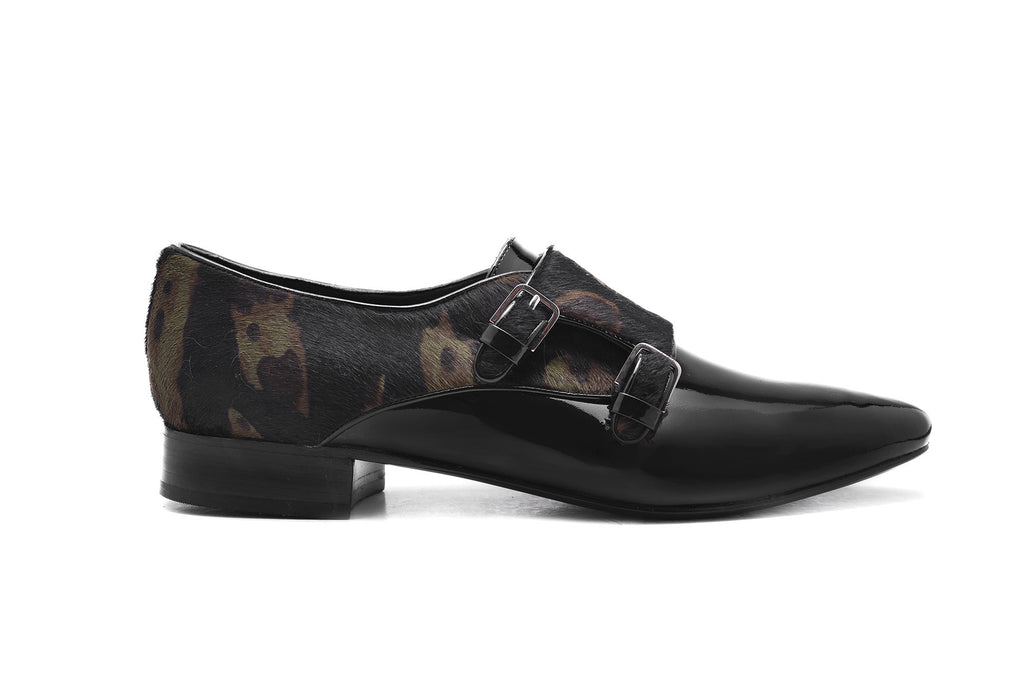 MARIANA MILITARY PRINT PONY HAIR