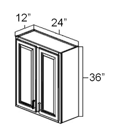 "24"" x 12"" x 36"" Double Door Wall Cabinet"