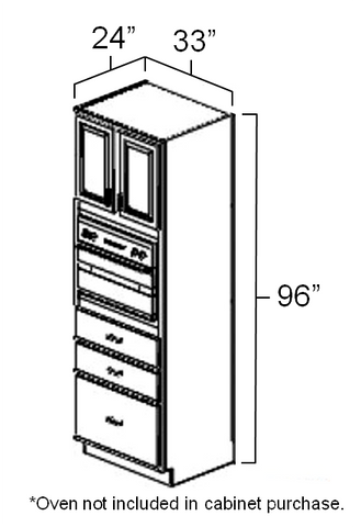 "33"" x 24"" x 96"" Universal Oven Cabinet"