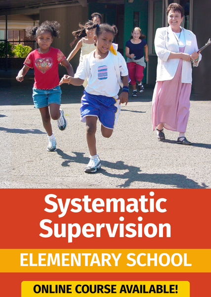 Image of children running and text, Systematic Supervision