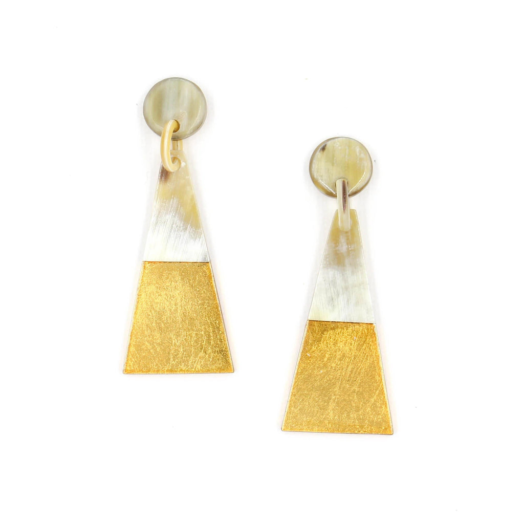 Sunshine Tienda Gold Dipped Triangle Earrings