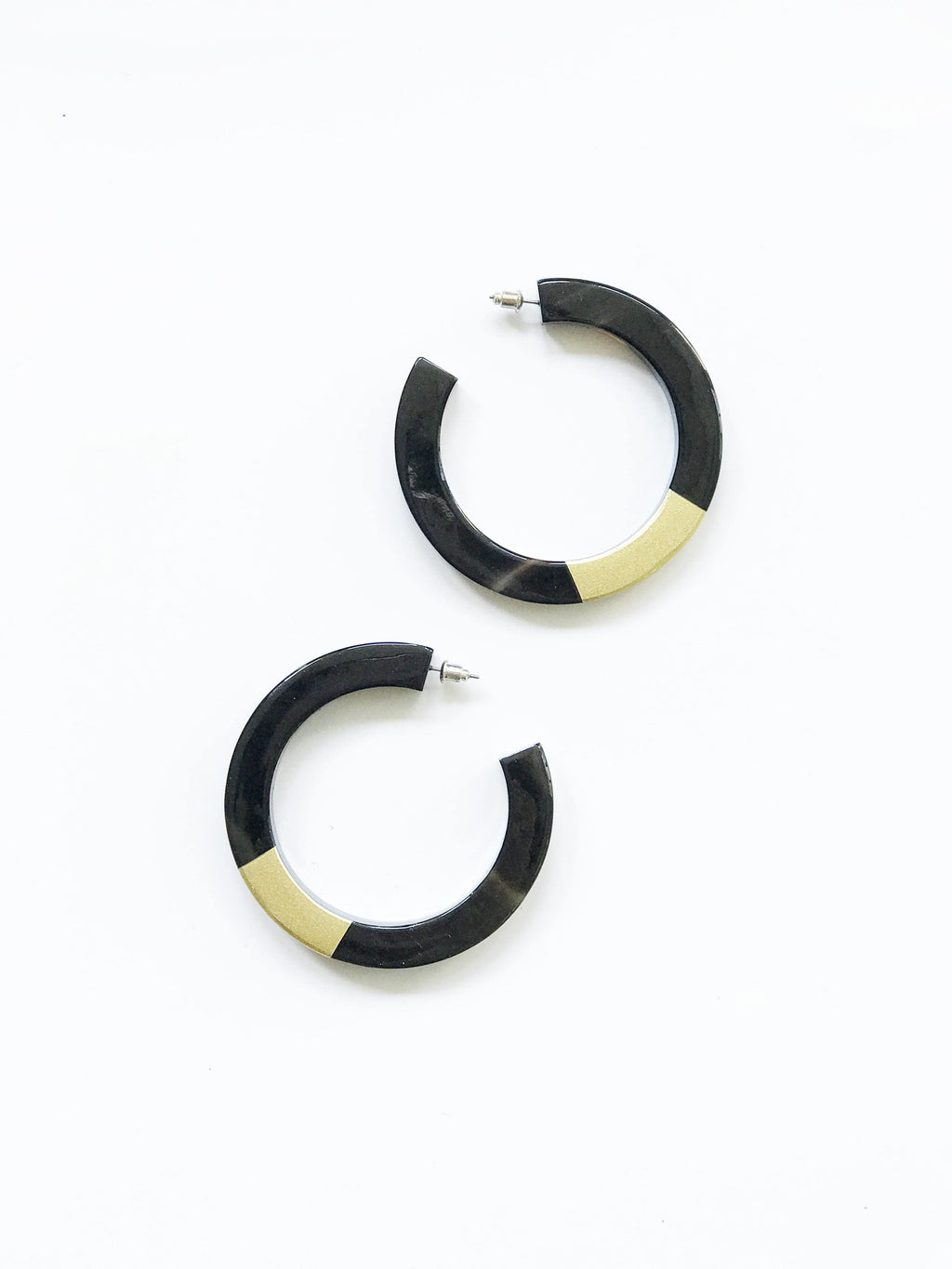 Sunshine Tienda Gold Painted Hoops