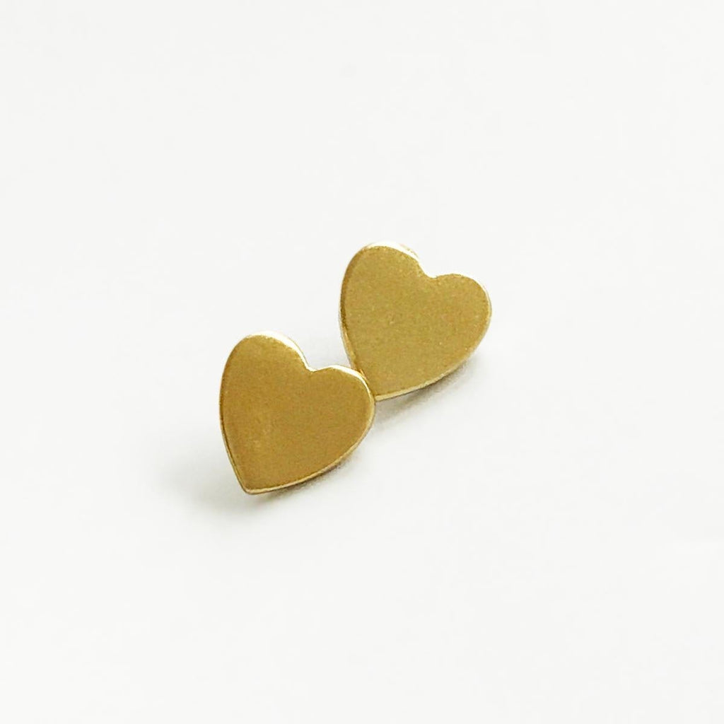 Sunshine Tienda Heart Gold Earrings