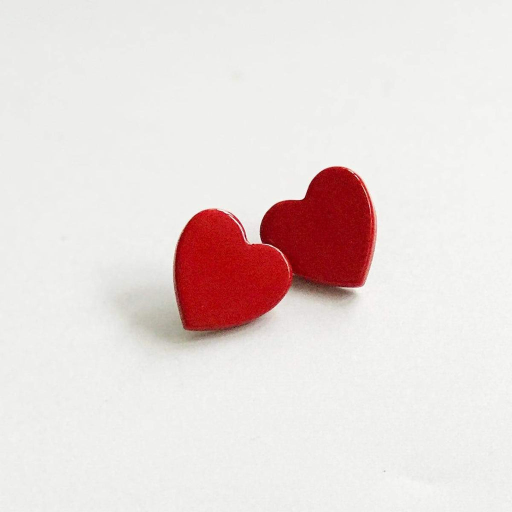Sunshine Tienda Heart Red Earrings