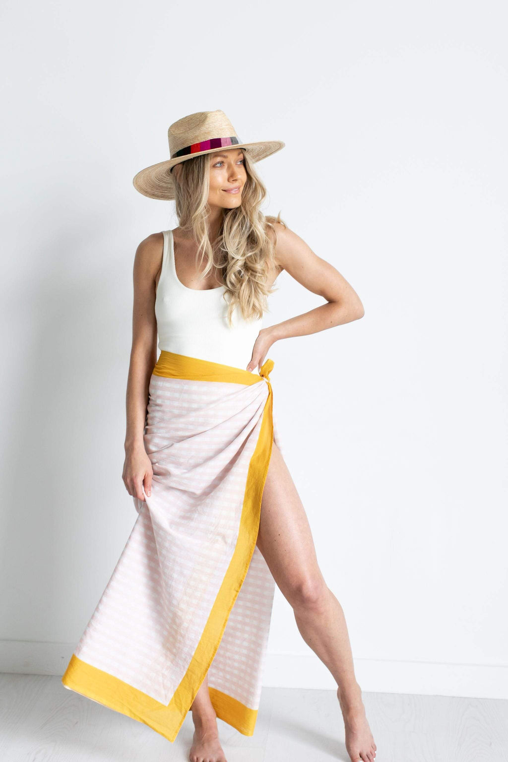 Sunshine Tienda® Honeysuckle Gingham Sarong