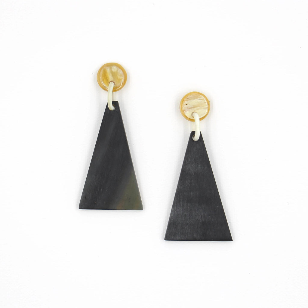 Sunshine Tienda Matte Black Small Triangle Earrings