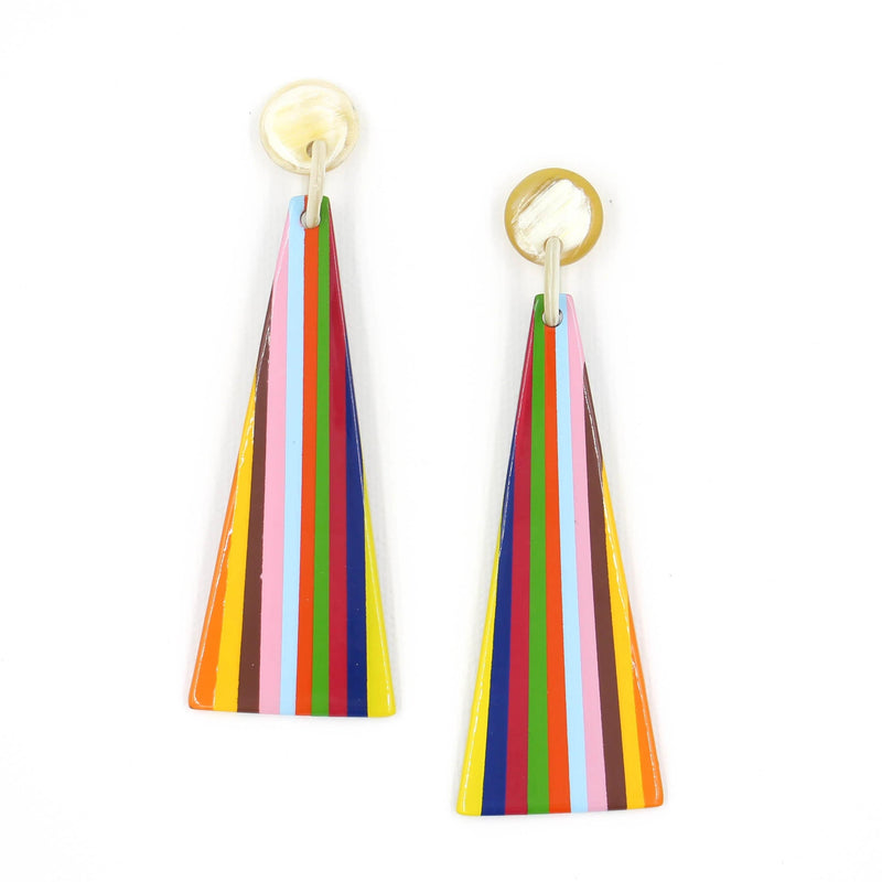 Sunshine Tienda Rainbow Triangle Earrings