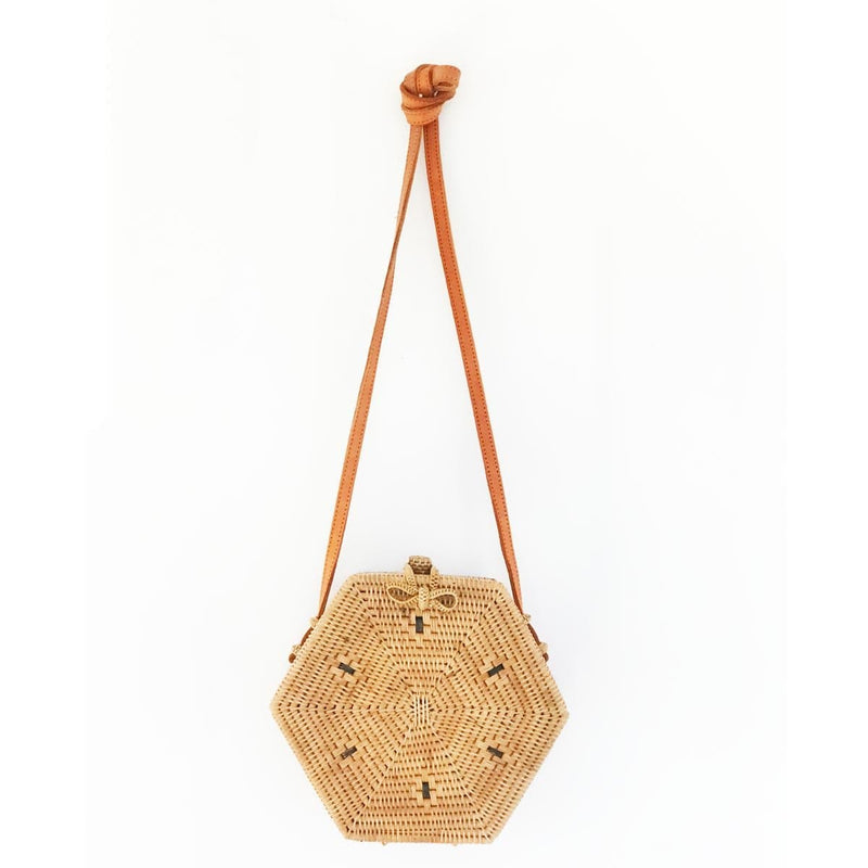 Sunshine Tienda Rattan Hexagon Bali Bag
