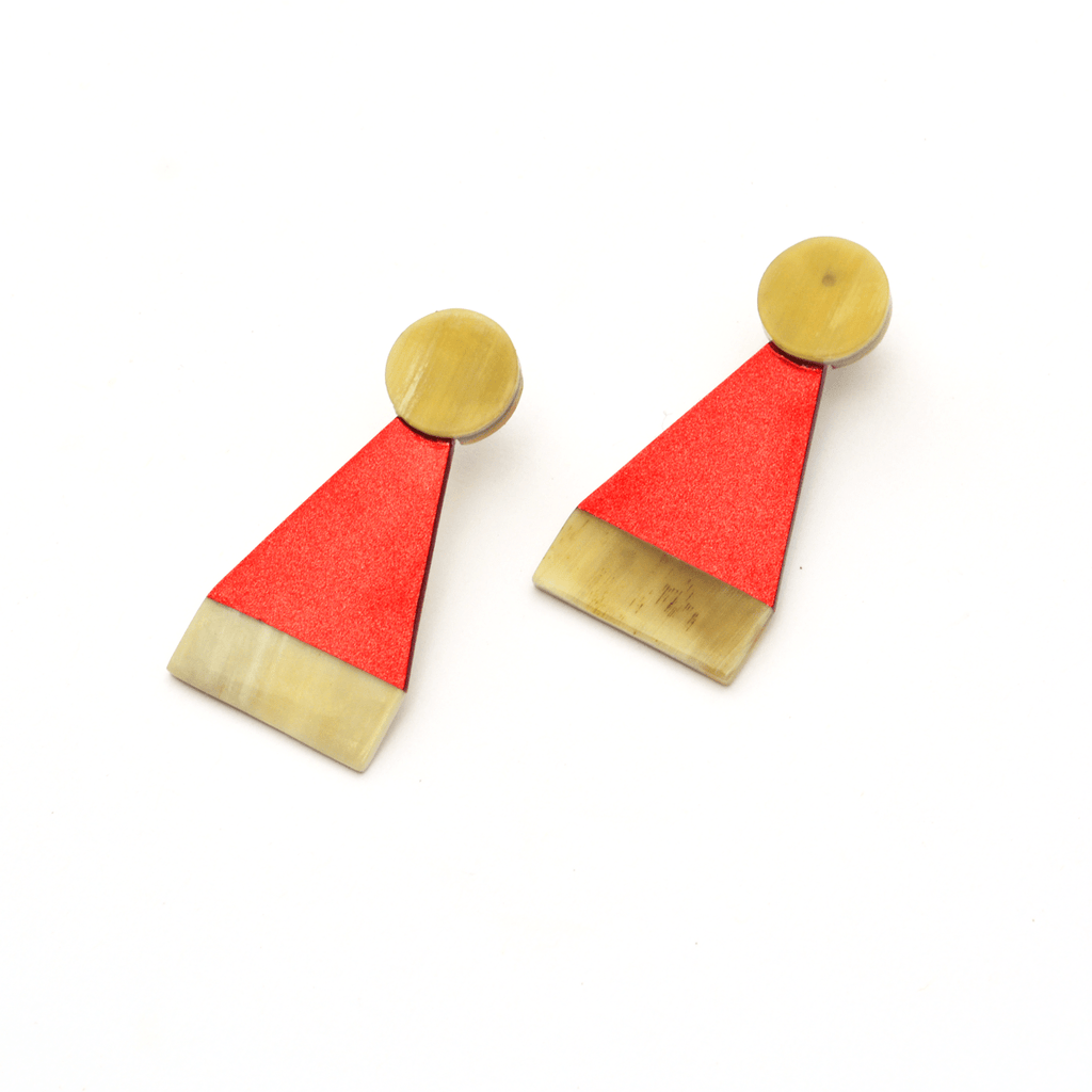 Sunshine Tienda Santa Topper Earrings