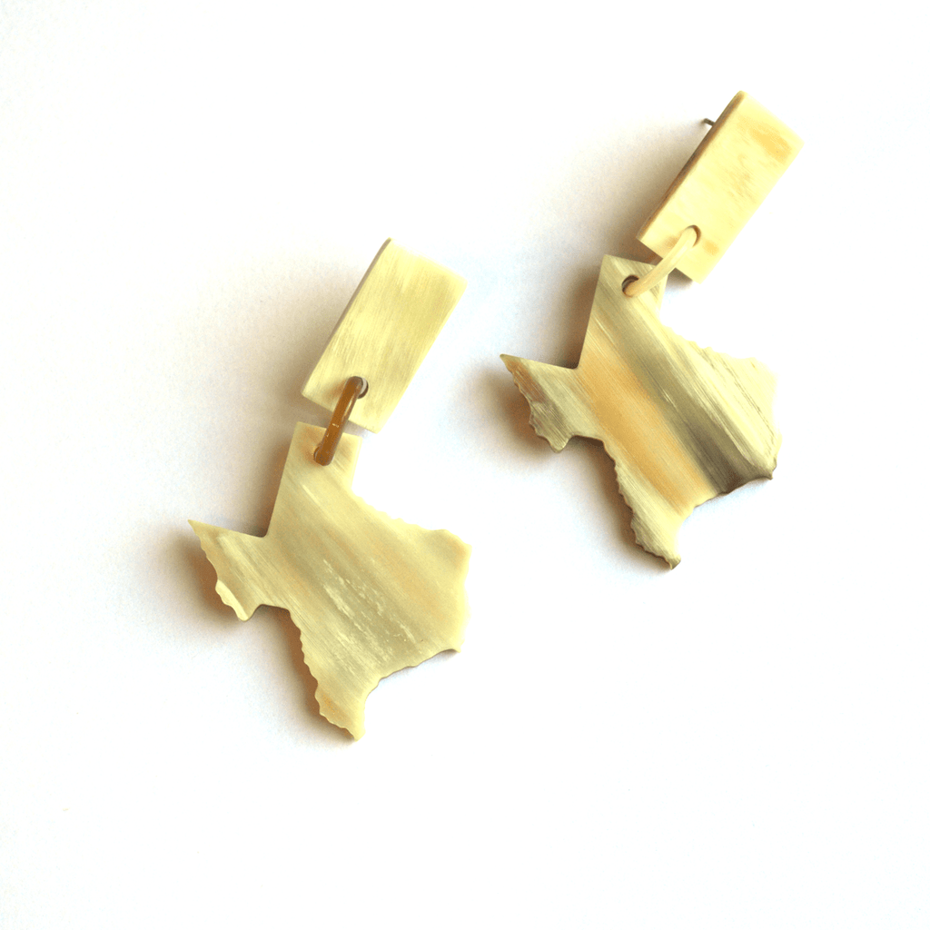 Sunshine Tienda Small Texas Horn Earring Dangles