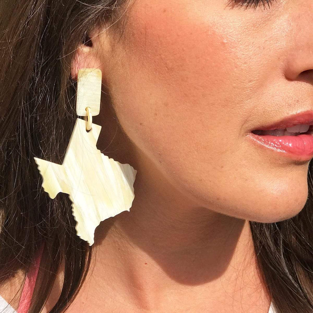 Sunshine Tienda Texas Large Horn Earrings
