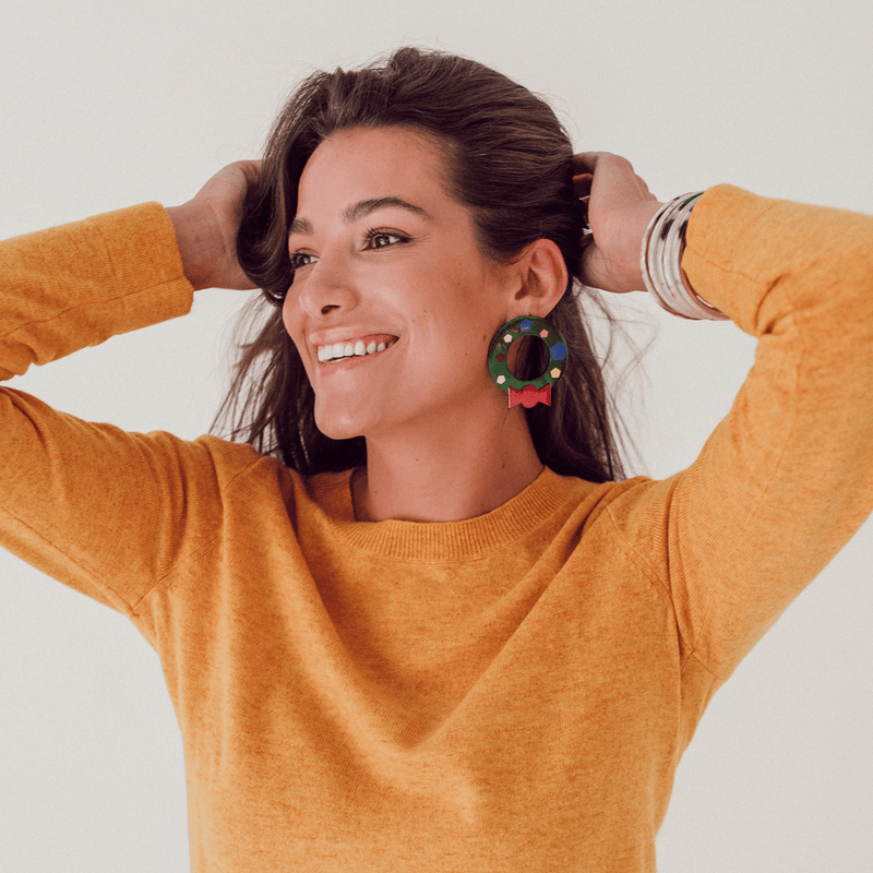 Sunshine Tienda Wreath Earrings