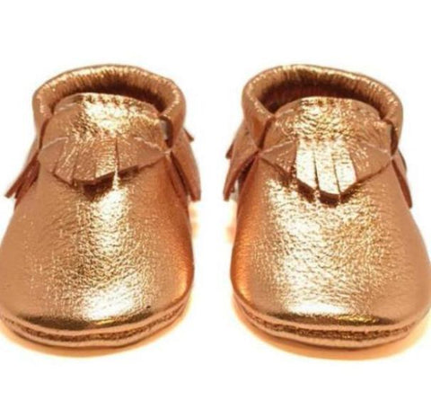 Copper, fashion, toddler, shoes, kid, moccasins, moccs, soft sole, hard sole, handmade, leather, genuine leather, USA, boy, girl