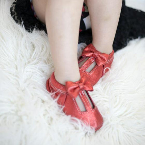 Metallic Red Peekaboos