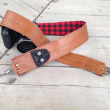 Black Plaid Camera Strap