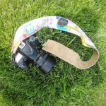 Mint Pink Gold Camera Strap