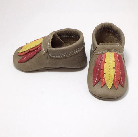 Feather Moccs (customize color)-BBTmoccs-Babytmoccs