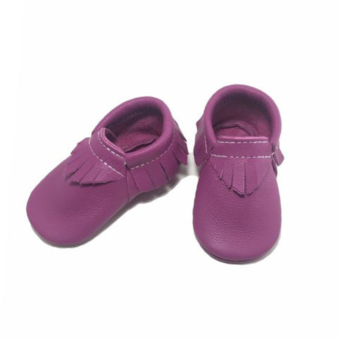 Fuchsia, fashion, toddler, shoes, kid, moccasins, moccs, soft sole, hard sole, handmade, leather, genuine leather, USA, boy, girl