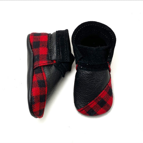 Buffalo Plaid booties