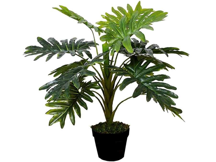 New Potted Faux Monstera Plant Artificial Succulent Green Home Realistic