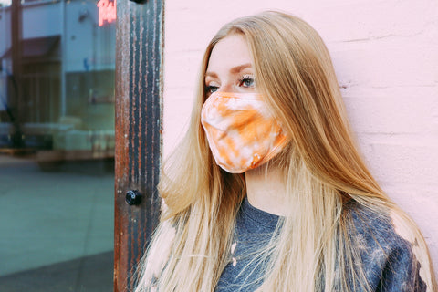 Everyday Orange Tie Dye Mask