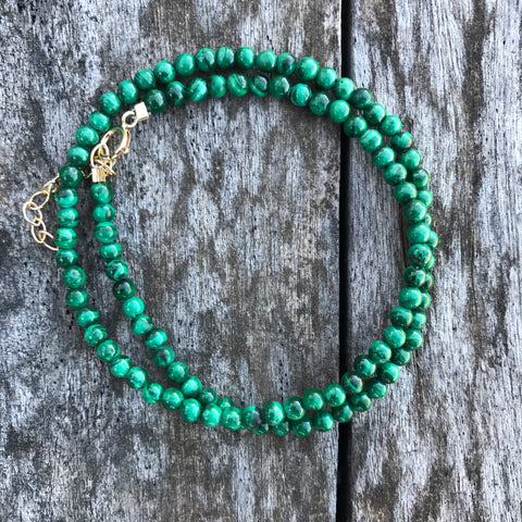 Malachite Teensy Wrap