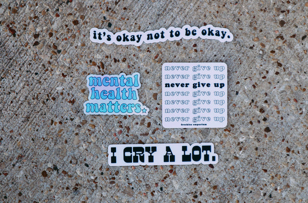 Mental Health Matters Holographic Sticker