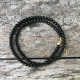Black Onyx Round Teensy Wrap