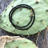 Faceted Black Onyx Teensy Wrap