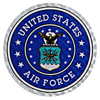 Air Force Crest Small Prism Decal
