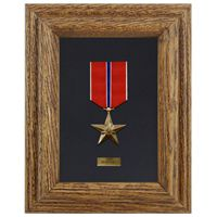 Pre-Assembled Single Medal Display Case
