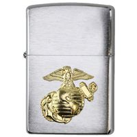 Marine Corps Globe and Anchor Zippo Lighter