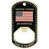 We Support Our Troops Bottle Opener