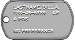 Air Force Military Dog Tags