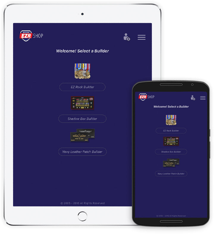 The New EZR Shop App for android and iphone
