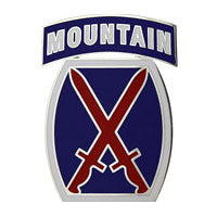 10th Mountain Division Combat Service Identification Badge