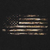 American Flag Distressed T-Shirt - Black