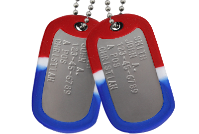 Military Dog Tag Collage