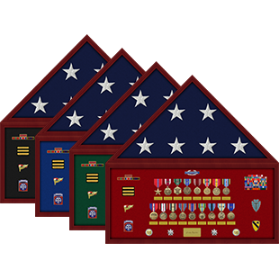 Military Flag Shadow Box Display