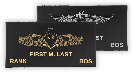 Flight Suit Name Tags