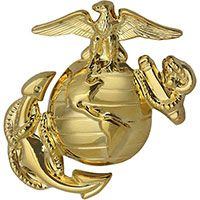 Marine Corps Globe-and-Anchor Cap Device