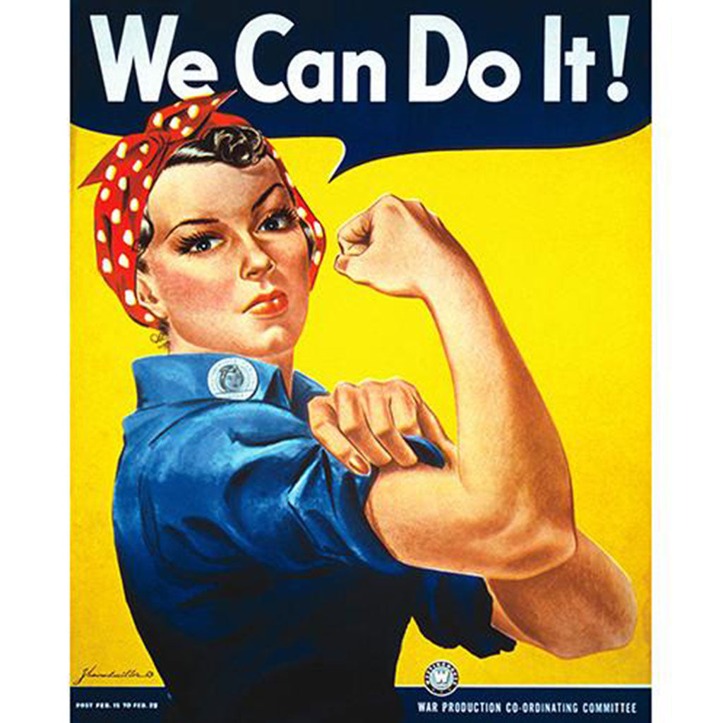 Rosie the Riveter - 8x10 Vintage Canvas Print
